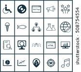 set of 20 universal editable... | Shutterstock .eps vector #508754554