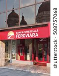 Small photo of TARGU MURES, ROMANIA - AUGUST 25, 2012: Banca Comerciala Feroviara bank branch in Targu Mures. BCF was founded in 2009 and has grown steadily with 115m USD in loans in 2014.