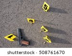 id tents at crime scene after... | Shutterstock . vector #508761670