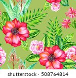 seamless vintage style... | Shutterstock . vector #508764814