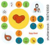 diwali. indian festival icons.... | Shutterstock .eps vector #508765003