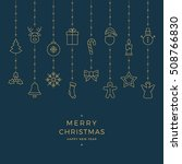christmas gold icon elements... | Shutterstock .eps vector #508766830