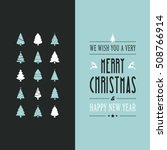merry christmas vintage card... | Shutterstock .eps vector #508766914