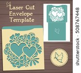 lasercut vector wedding... | Shutterstock .eps vector #508767448