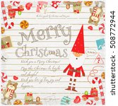merry christmas and new year... | Shutterstock .eps vector #508772944