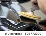 polishing black car | Shutterstock . vector #508773370