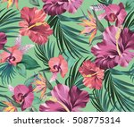 vector tropical pattern.... | Shutterstock .eps vector #508775314