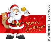 santa claus character vector... | Shutterstock .eps vector #508775770