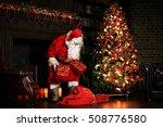 christmas night  santa claus... | Shutterstock . vector #508776580