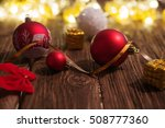 christmas lights with christmas ... | Shutterstock . vector #508777360