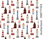seamless marine pattern with... | Shutterstock .eps vector #508777453