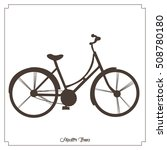 isolated hipster bicycle icon... | Shutterstock .eps vector #508780180