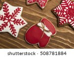 christmas cookies in colored... | Shutterstock . vector #508781884