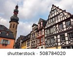 Half Timbered Buildings On The...