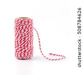 Red And White Rope Isolated On...