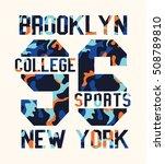 brooklyn beach typography... | Shutterstock .eps vector #508789810