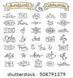 doodle calligraphic elegant... | Shutterstock . vector #508791379
