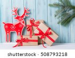 christmas decorations with gift ... | Shutterstock . vector #508793218