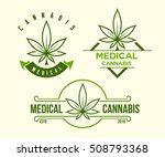 set of green medical cannabis...