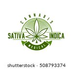 medical cannabis emblem  logo . ... | Shutterstock .eps vector #508793374