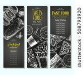 fast food vertical banner set.... | Shutterstock .eps vector #508793920