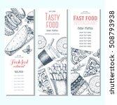 fast food vertical banner set....   Shutterstock .eps vector #508793938