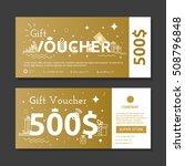 set of gold voucher.... | Shutterstock .eps vector #508796848