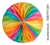 colorful paper ball isolated on