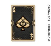 Ace Of Spades. Playing Card...