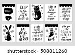 collection of 10 stylish black... | Shutterstock .eps vector #508811260