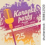 banner with microphone for... | Shutterstock .eps vector #508812520