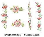 watercolor flowers in different ...   Shutterstock . vector #508813306
