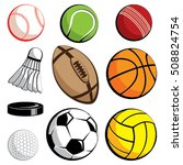 sport ball vector set in colors ... | Shutterstock .eps vector #508824754