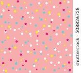 donut glaze seamless pattern.... | Shutterstock .eps vector #508826728