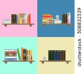 books on a colored background.... | Shutterstock .eps vector #508832539