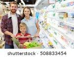 family in hypermarket | Shutterstock . vector #508833454