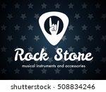 rock store plectrum vector logo | Shutterstock .eps vector #508834246