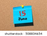june 15th. day 15 of month ... | Shutterstock . vector #508834654