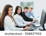 young  businesswoman working in ...   Shutterstock . vector #508837903