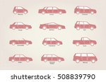 vector stylized different types ... | Shutterstock . vector #508839790