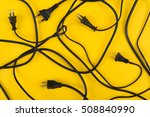 messy of electrical cords and... | Shutterstock . vector #508840990