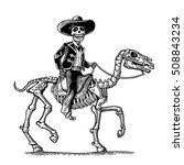 the rider in the mexican man... | Shutterstock .eps vector #508843234