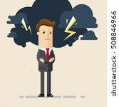 businessman with dark cloud... | Shutterstock .eps vector #508846966