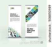 vector set of modern roll up...   Shutterstock .eps vector #508850989
