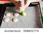 making macarons in the kitchen | Shutterstock . vector #508852774