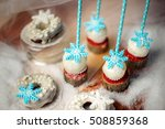 lollypops side view and donuts... | Shutterstock . vector #508859368
