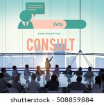 Small photo of Consult Advise Sharing Strategy Planning Concept