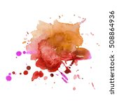 expressive abstract watercolor... | Shutterstock .eps vector #508864936