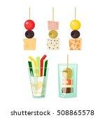 Set Kinds Of Festive Snacks...