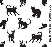 black cat pattern | Shutterstock .eps vector #508867900